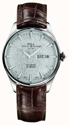 Ball Watch Company Quadrante argentato automatico del crocodile del treno eternità del treno NM2080D-LJ-SL