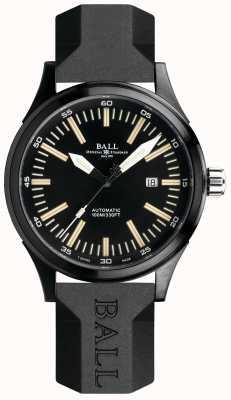 Ball Watch Company Quadrante nero della cinghia di gomma automatica del treno notturno del vigile del fuoco NM2092C-P-BK