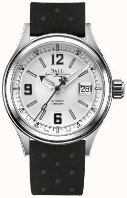 Ball Watch Company Manopola automatica cinghia di gomma automatica del raider del fuoco NM2088C-P2J-WHBK