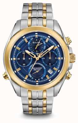 Bulova Mens Precisionist cronografo due toni 98B276