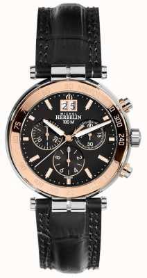 Michel Herbelin Il cronografo di rosa dell'uomo newport 36654/TR14