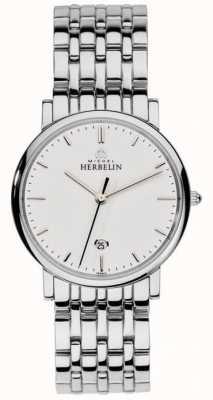 Michel Herbelin Mens della maglia d'argento in acciaio inox 12543/B11