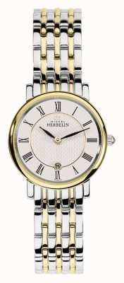 Michel Herbelin Womans due tonalità acciaio inox cinturino in oro argento 16945/BT01