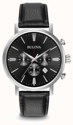 Bulova cinturino in pelle nera Cronografo da uomo 96B262