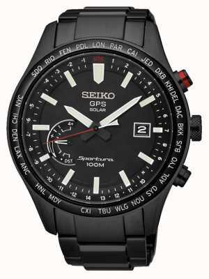 Seiko Sportura gps perpetuo cronografo solare ioni nero cromato SSF005J1