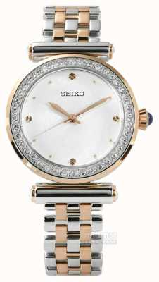 Seiko Womens due tonalità oro rosa SRZ466P1