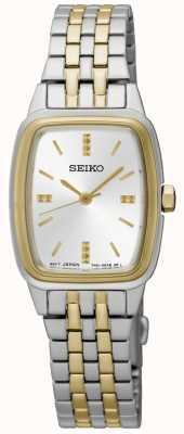 Seiko Womens bicolore tonneau SRZ472P1