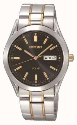 Seiko Orologio braccialetto solare degli uomini SNE047P9