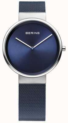Bering ferro blu unisex in acciaio placcato cinghia maglia 14531-307