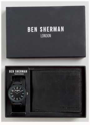 Ben Sherman Mens set regalo portafoglio nero WB050BBG