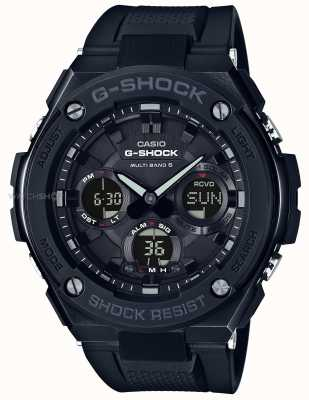 Casio Mens Allarme Cronografo g-acciaio cinturino in caucciù nero GST-W100G-1BER