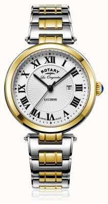 Rotary Womans Lucerna due tonalità oro argento LB90188/01/L