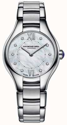Raymond Weil acciaio inox Womans 10 diamanti quadrante in madreperla 5124-ST-00985