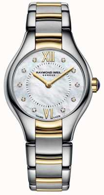 Raymond Weil Womans Noemia due toni 10 diamanti quadrante in madreperla 5124-STP-00985