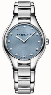 Raymond Weil Womans Noemia 12 diamante blu 5132-ST-50081