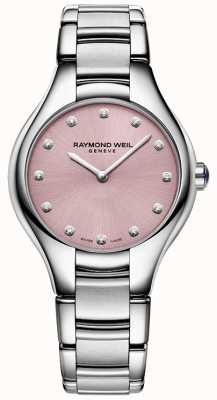 Raymond Weil Womans Noemia 12 diamante rosa 5132-ST-80081