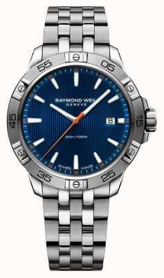 Raymond Weil Quadrante blu in acciaio inossidabile da 41 mm 8160-ST2-50001