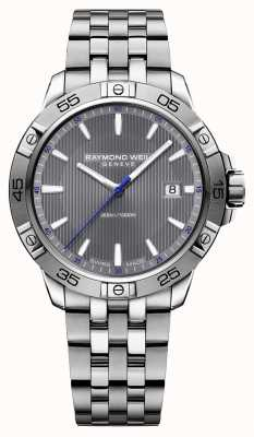 Raymond Weil Quadrante grigio in acciaio inox tango 41 millimetri 8160-ST2-60001