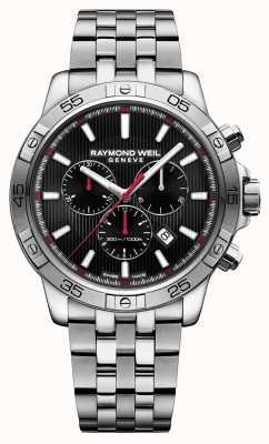 Raymond Weil Acciaio inossidabile cronografo nero tango 43 millimetri 8560-ST2-20001