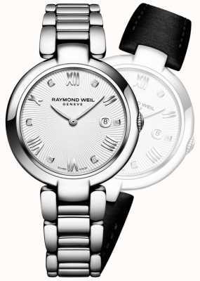 Raymond Weil Il womans brilla il diamante d'argento dell'acciaio inossidabile 1600-ST-00618
