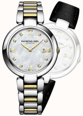 Raymond Weil I womans brillano due punti di diamanti in acciaio inox 1600-STP-00995