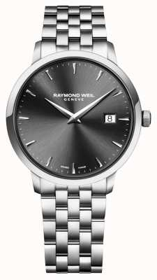 Raymond Weil quadrante carbone in acciaio inox movimento al quarzo Mens 5488-ST-60001