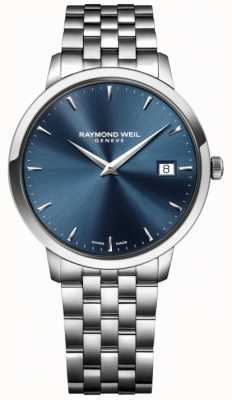 Raymond Weil movimento al quarzo Mens blu in acciaio inox 5488-ST-50001