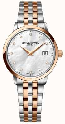 Raymond Weil Womans due toni rosa dot diamanti in oro 5988-SP5-97081