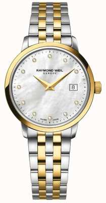 Raymond Weil Womans toccata due toni diamante oro 5988-STP-97081