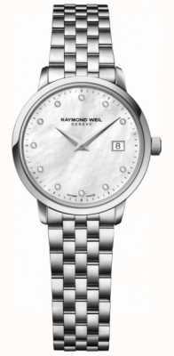 Raymond Weil Punto di diamante in acciaio inox di quarzo toccata Womans 5988-ST-97081