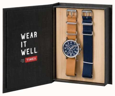 Timex Mens weekender set regalo cronografo TWG012800