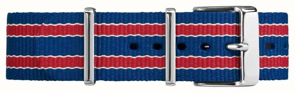 Timex Cinturino blu rosso da 20 millimetri di Fairfield TW7C07100