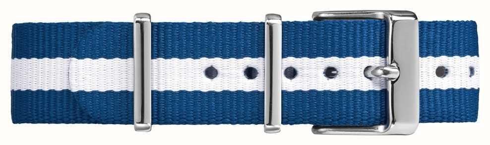 Timex Cinturino bianco in cotone da festa da uomo da 18 millimetri TW7C07300