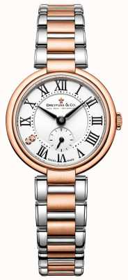 Dreyfuss signore due tonalità oro rosa 1974 orologio DLB00159/01/L