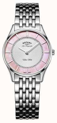 Rotary Donne bracciale in acciaio rosa quadrante in madreperla LB90800/07