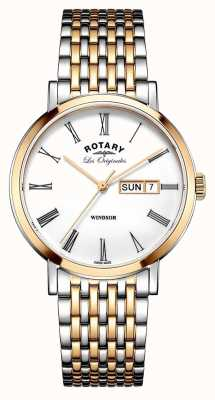 Rotary Gents due toni rosa Bracciale GB90155/01