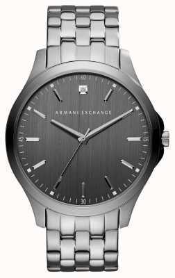 Armani Exchange Mens grigio canna di fucile orologio in acciaio inox AX2169