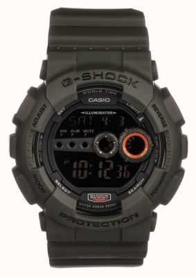 Casio Mens in edizione limitata g-shock verde GD-100MS-3ER