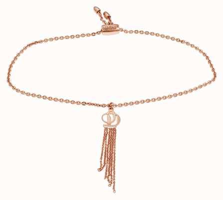 Project D Donna rosa-tono argento logo braccialetto di fascino PDLJ/2/B/2