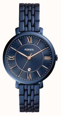 Fossil Donne Jacqueline blu orologio in acciaio inox ES4094