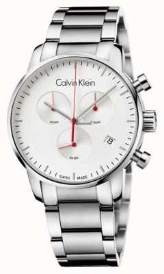 Calvin Klein Mens Watch città del cronografo in acciaio inox K2G271Z6