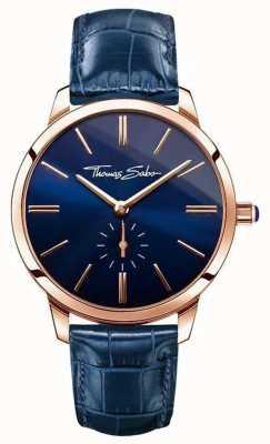 Thomas Sabo Donne glam spirito in pelle blu WA0250-270-209-33