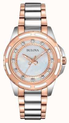 Bulova / Oro rosa signore in acciaio inox 98S134