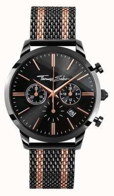 Thomas Sabo Mens spirito ribelle cronografo rosa oro nero WA0289-285-203-42