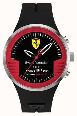 Scuderia Ferrari Mens cinturino in caucciù nero rosso nero 0830373