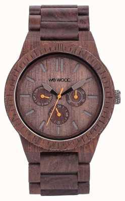 WeWood Mens kappa cioccolato cinturino marrone in legno 70315500