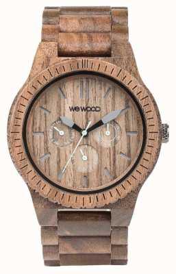 WeWood Dado kappa Mens cinturino marrone in legno 70315700