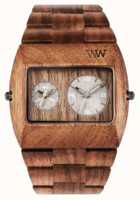 WeWood Mens Jupiter rs dado cinturino marrone in legno 70331700