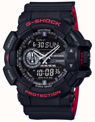 Casio Mens g-shock allarme cronografo cinturino in resina nera GA-400HR-1AER