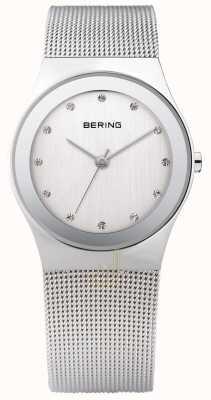 Bering Womans orologi di maglia d'argento 12934-000